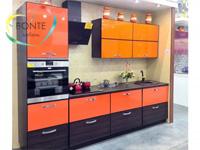 Прямая кухня Ульяновск: Оранж в алюминиевой рамке