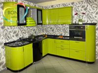 Угловые кухни Ульяновск: Зленое яблоко